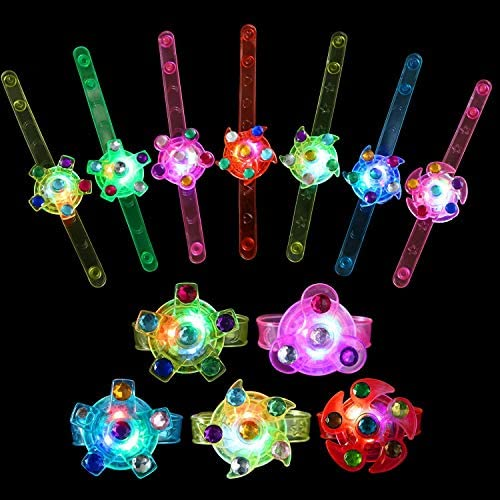 WELLVO Party Favors for Kids 14 Pack Light Up Bracelets Glow in The Dark Party Supplies Girls product image