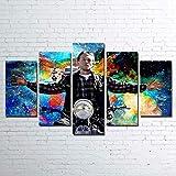 HHGJJ Cuadro En Lienzo 5 Piezas Jax Teller 5 Piezas Pintura sobre Lienzo,5 Piezas Imagen Impresión,Pintura Decoración Pared,Canvas 5 Piezas,Tejido No Tejido Moderna 5 Piezas 150X80Cm