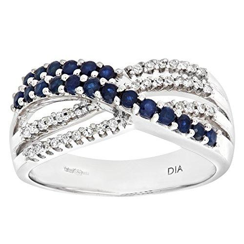 Naava PR4758P-p, ring voor dames, 9 K 375 geelgoud, 3 diamanten