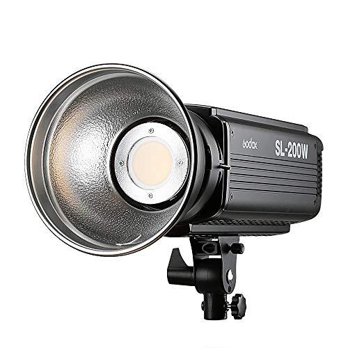 Godox SL-200W 200W LED-Videoleuchte, Bowens Mounts5600K, Studio-Dauerlicht-LED-Lampe für Kamera DV-Camcorder (Weißlichtversion)