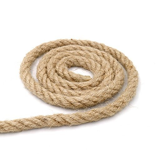 33 Feet 100% Natural Thick Jute Hemp Rope 12MM Strong String Craft Twine for DIY & Arts Crafts,Christmas Gift Packing Floristry Bundling