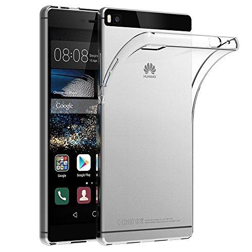 AICEK Huawei P8 Hülle Case, Ultra-Clear P8 Case Silikon Soft TPU Crystal Clear Premium Durchsichtig Handyhülle Schutzhülle Case Backcover Bumper Slimcase für P8