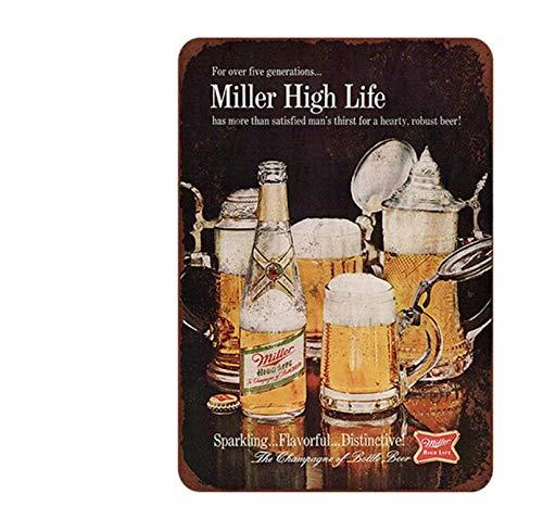 HMMY Metalen Muurbord Poster Metalen Decoratie Teken IJzeren Vel Schilderij Metalen Teken IJzer Paintretro Bar Logo Bier Metalen Tinplate