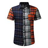 YSYOkow Camisas de manga corta para hombre con botones de lino, playa, yoga, informal, para verano