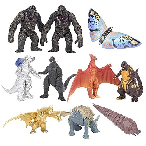 KOIJWWF 10 unids Godzilla vs Kong, Versión Multi Gojira Godzilla 8cm Figura de acción de PVC Modelo Coleccionable Juguete Coleccionable