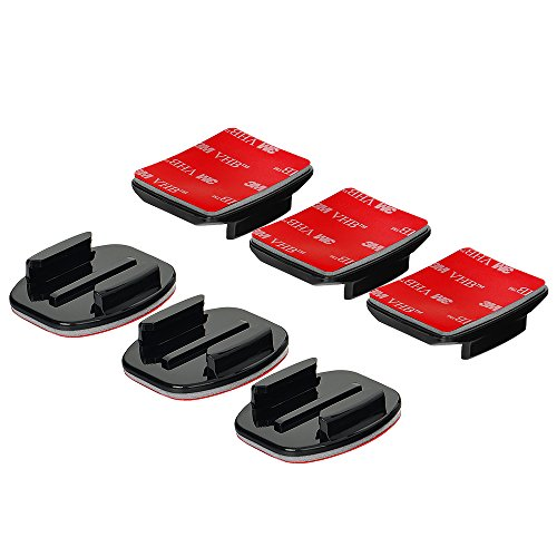 Wealpe Klebehalterung Helmhalterung Klebrige Flache Gebogene 3M Halterungen Kompatibel mit GoPro Hero 9, 8, 7, Max, Fusion, Hero (2018), 6, 5, 4, Session, 3+, 3, 2, 1 Kameras