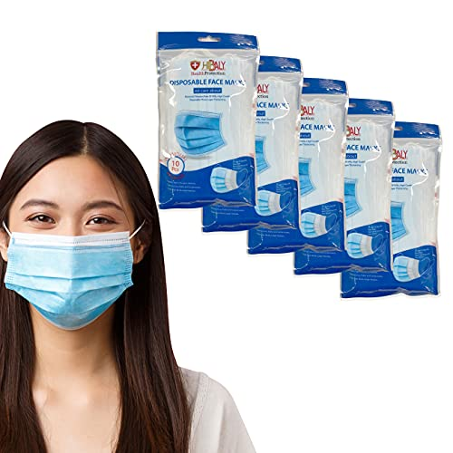 Hibaly | Sanitized Individually Packaged 3-ply Disposable Face Masks 50 pcs in Pack (5 packs of 10 pcs/pack)