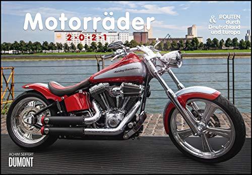 Motorräder & Routen 2021 - Broschürenkalender - mit Schulferientabelle - Format 42 x 29 cm
