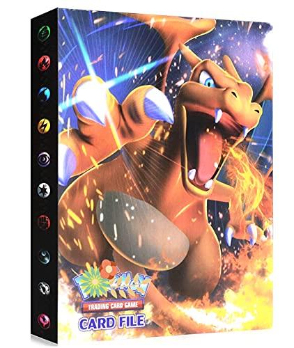 Album Compatible Avec Cartes Pokemon GX EX MEGA, Classeur compatible avec cartes Pokemon, Porte Album de cartes à collectionner, Peut contenir 240 cartes (Charizard)
