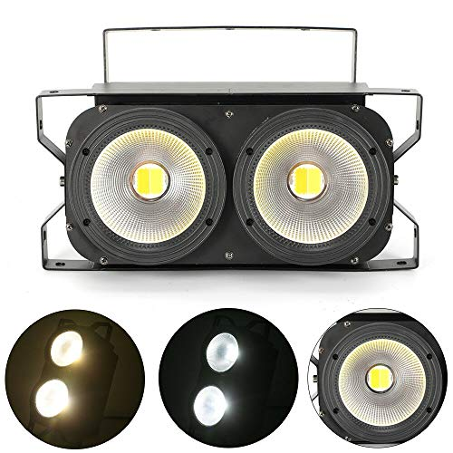 YIYIBY 2×100W COB LED Par Bühnenbeleuchtung DMX Stage Blinder Lampen Publikum Blinder Lamp Stagelampe DJ Licht Industrie Bühnenlampe