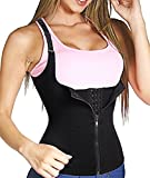Junlan Women Waist Trainer Corset Cincher Tank Top Vest Body Shaper Steel Boned for Weight Loss Tummy Underbust Shapewear