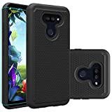 Giner for LG Harmony 4 Case,LG Xpression Plus 3/Premier Pro Plus case with HD Screen Protector,Dual Layer Military-Grade Armor Defender Protective Phone Case Cover Compatible with LG K41/K40S (Black)