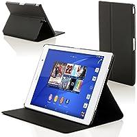 Forefront Cases Sony Xperia Z3 8.0 Tablet Compact Funda Carcasa Stand Smart Case Cover - Ultra Delgado y Protección Completa del Dispositivo con Función Auto Sueño/Estela (Negro)