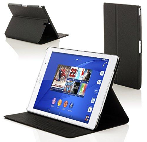Forefront Hülles Hülle für Sony Xperia Z3 8.0 8-Zoll Tablet Compact Schutzülle Hülle Cover und Ständer - Dünn Leicht, R&um-Geräteschutz und Auto Schlaf Wach Funktion - Schwarz