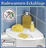 Wenko Badewannen-Eckablage weiß - OHNE Bohren - Bad Ablage für