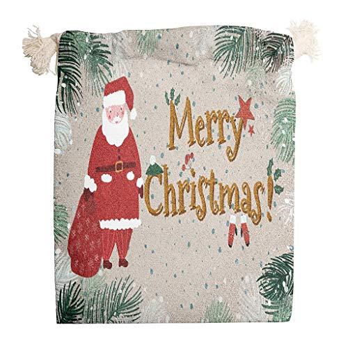 Toomjie 5 Packs Tekst Letter Plant Canvas Treat Tas voor Kerstmis Letter Kleine Craft Gepersonaliseerde Gift Tassen Sieraden Muntzakjes met Dubbele Drawstrings