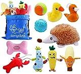 senyouth Juego de 10 juguetes de peluche para perro, juguetes pequeños de peluche,...