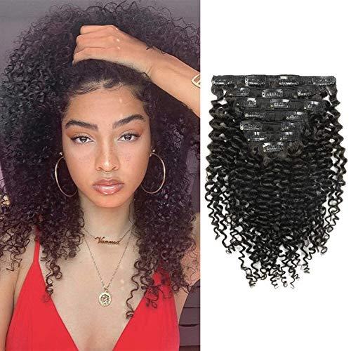 Anrosa Hair Extensions Clip In Human Hair Natural...