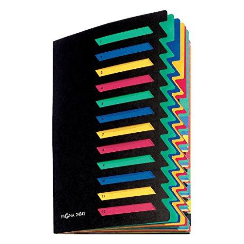 Pagna Deskorganizer Classic (Sammelmappe, 12 Fächer, 1-12) schwarz