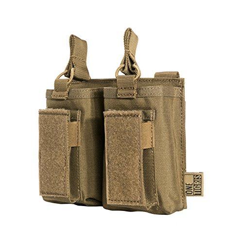 OneTigris Taktische MOLLE Magazintasche/Mag Pouch für M4/M16/AR/AK/G36/ Glock/M1911/ 92F |MEHRWEG Verpackung (Braun)