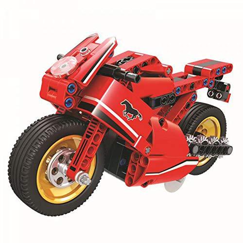 Technik Bausteine Motorrad mit Rückzieh-Motor, Konstruktionsspielzeug, 188 Teile