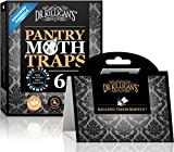 Dr. Killigan's Premium Pantry Moth Traps with Pheromones Prime | Safe, Non-Toxic with No Insecticides | Sticky Glue Trap for Food and Cupboard Moths in Your Kitchen | Organic (Black, 6)