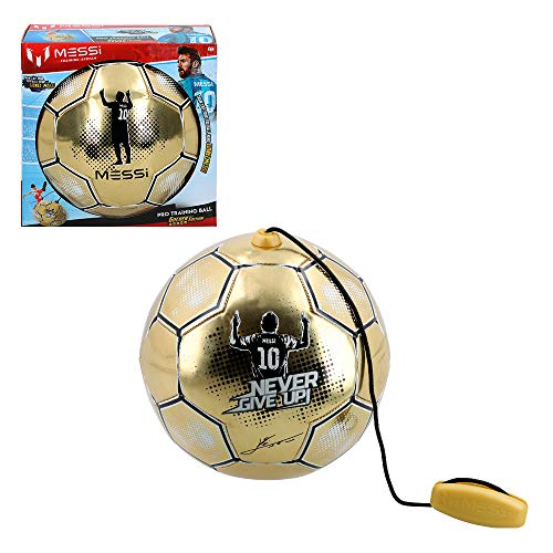 Messi Training System - Balón entrenamiento con cuerda Golden Edition (ColorBaby 48070)