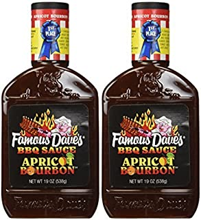 Famous Dave's Apricot Bourbon BBQ Sauce (2 Pack) 1st Place Barbecue Winner by Famous Dave's