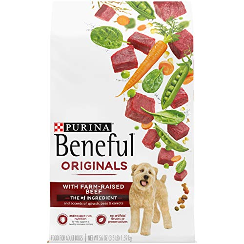 Purina Beneful Real Meat Dry Dog Food, Originals With Farm-Raised Beef - (4) 3.5 lb. Bags (017800134835)