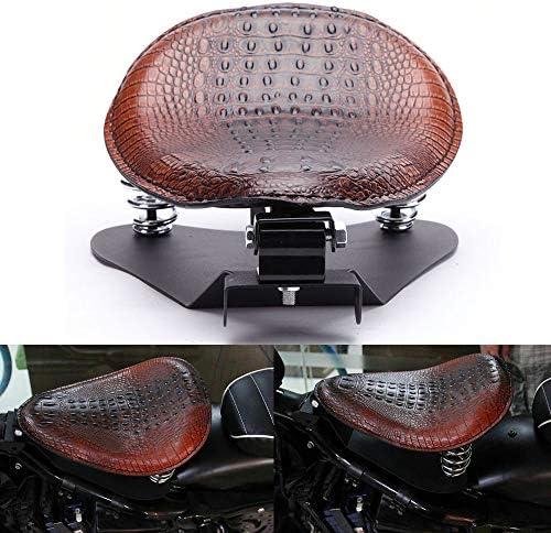 Crocodile Leather Motocycle Bobber Solo Seat Spring Base Plate Bracket Kit For Harley Sportster product image
