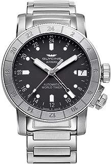 Glycine Airman Mens Analog Swiss Automatic Watch with Stainless Steel Bracelet GL0168