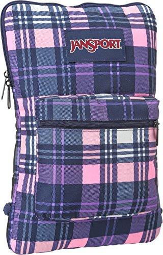 JanSport Superbreak Sleeve Backpack Pink Pansy Preston Plaid One Size