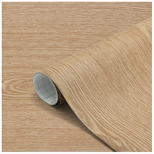 Losuda Holz Selbstklebende Klebefolie Wasserdicht 60 X 500cm Möbelsticker PVC Verdickt Dekorfolie Folie Möbelfolie Türfolie für Fensterbank,Wände,Möbel, Küche,Tür