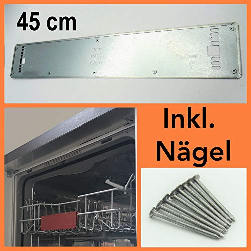 Wrasenschutz BSH Dampfschutzblech 45 cm + Nägel Wrasenschutzblech Spülmaschine Bosch, Neff, Siemens alle Hersteller