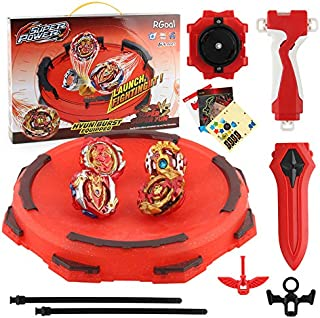 BCIWNS-Y Bey Battle Burst Evolution Attack Gyro Set with 4D Launcher Grip Starter and Stadium(4 in 1)