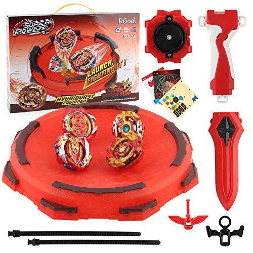 Bay Battle Burst Avatar Attack Battle Set with Two String Launcher and Grip Starter Set 4 in 1