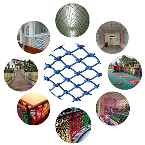 Kindersicherheits-Balkonschutz-Nylonnetz, Sicherheits-Absturzsicherungsnetz Kindersicherheits-Netz, Balkon-Gartenschutz-Pflanzen-Trampolin-Netz for Kinder Vogelseilnetz (6 cm * 4 mm) (Size : 2 * 8M)