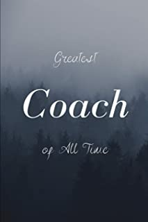 Coach: The Best Soccer Coach Blank Lined Page Notebook, Gift For Coach, size 6x9 inch 116 Page