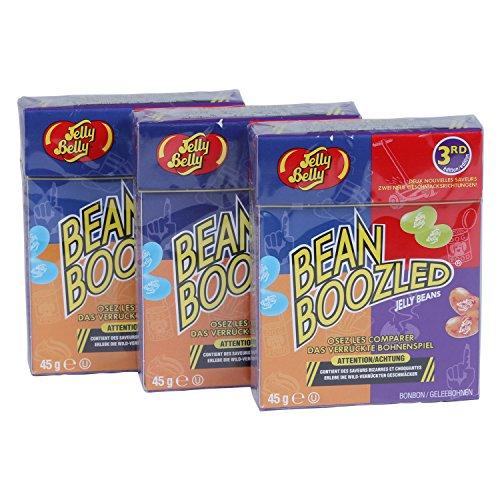 3 cajas de Jelly Belly Bean Boozled con tapa superior