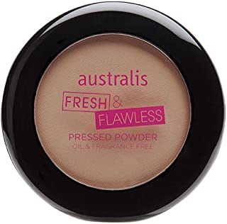 Australis AC Fresh and Flawless Pressed Powder Makeup - Light Beige Matte
