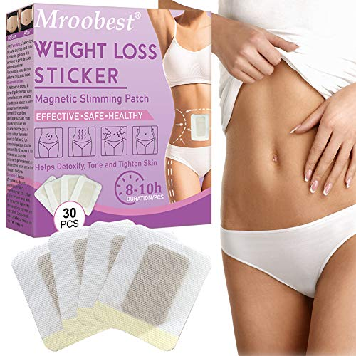 Slimming Patch, Fettverbrennung Slim Patch, Abnehmen Patch, Weight Loss Sticker, Anti Cellulite & Fat Burning Quick Slimming Patch für Bierbauch, Eimer Taille, Bauchfett Taille - 30 Stück