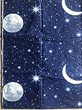 Stoffschnittteile 280 x 290,Mond und Sterne,100% Baumwolle
