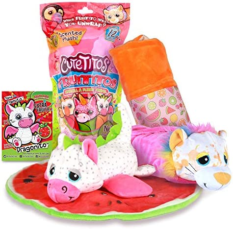 Basic Fun Cutetitos Fruititos Surprise Stuffed Animals Collectible Scented Plush Series 4 Great product image