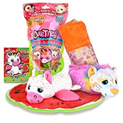 Discover NEW Series 4 Cutetitos Fruititos, with all new animals, fun new fabrics and a surprise fruit wrap Unroll to reveal your new soft pet and everything about it Who will you get? Cutetitos Series 4 features 12 collectible animals including a Bea...