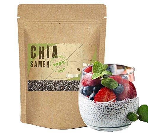 Chia Samen 1kg (1000g) *Chia Diät - Lebensmittel zum Abnehmen* 1 kg (1000 g) online kaufen Amazon Premium Qualität Deutschland DAS Superfood glutenfrei glutenfreie Lebensmittel Vegan vegane Lebensmittel Erfahrungen Chia 1kg (1000g) Chia 1 kg (1000 g) Chia Eiweiß Chia Joghurt Chia kaufen Chia Müsli Chia Omega 3 Chia Pudding Chia Protein Chia Seeds kaufen Chia topping gesunde Lebensmittel Diät Ballaststoffe Lebensmittel Omega 3 Lebensmittel gesunde Ernährung Lebensmittel veganes essen bestellen
