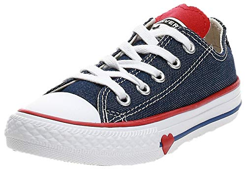 Converse Chuck Taylor All Stars, Zapatillas Unisex Niños, Azul (Navy/Enamel Red/Blue 000), 33 EU