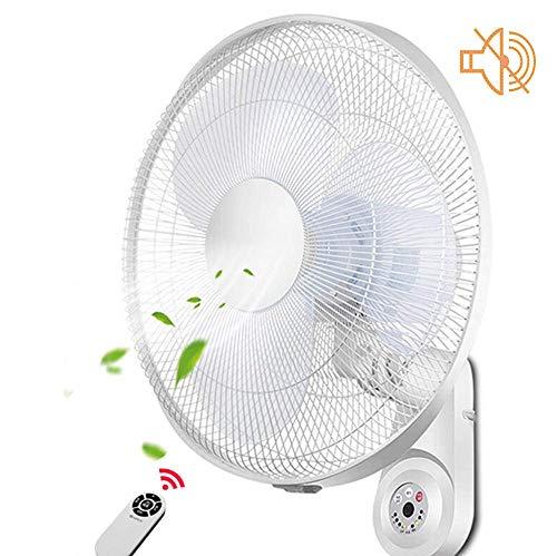 N / A Wand befestigte Fans mit Fernbedienung/Low Noise Startseite Oszillierende Fan / 4-Stunden-Timing/Leicht zu zerlegen und reinigen / 55W / White Wall Fan
