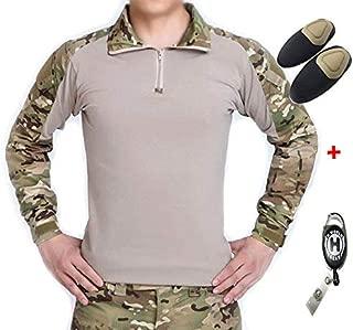 T-shirt a maniche lunghe T-shirt girocollo in BTP MULTICAM