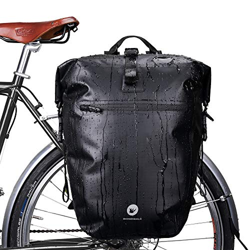 Huntvp 27L Bike Pannier Bag Backpack Multifunctional Bicycle Bag Cycling Bicycle Rear Seat Trunk Pack Bag Bike Saddle Bag Backseat Pack Bag(Black)