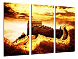Cuadro Fotográfico Paisaje Muralla China Atardecer Tamaño total: 97 x 62 cm XXL